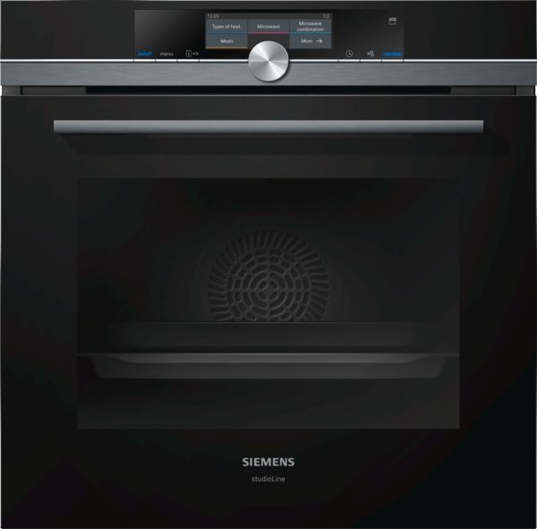 Studioline by Siemens | BLACK EDITION | HN878G4B6B oven with Microwave and pulse steam